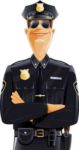 image black and white officer clipart police detective #43707436