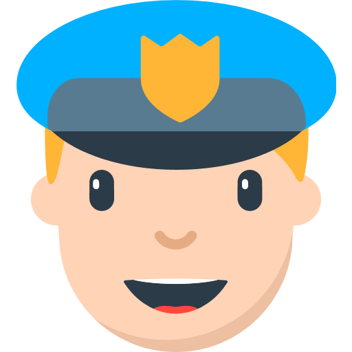 banner royalty free stock Police Officer Emoji for Facebook