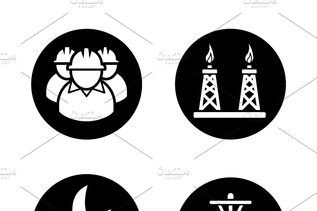 svg library download Oil and gas industry icons