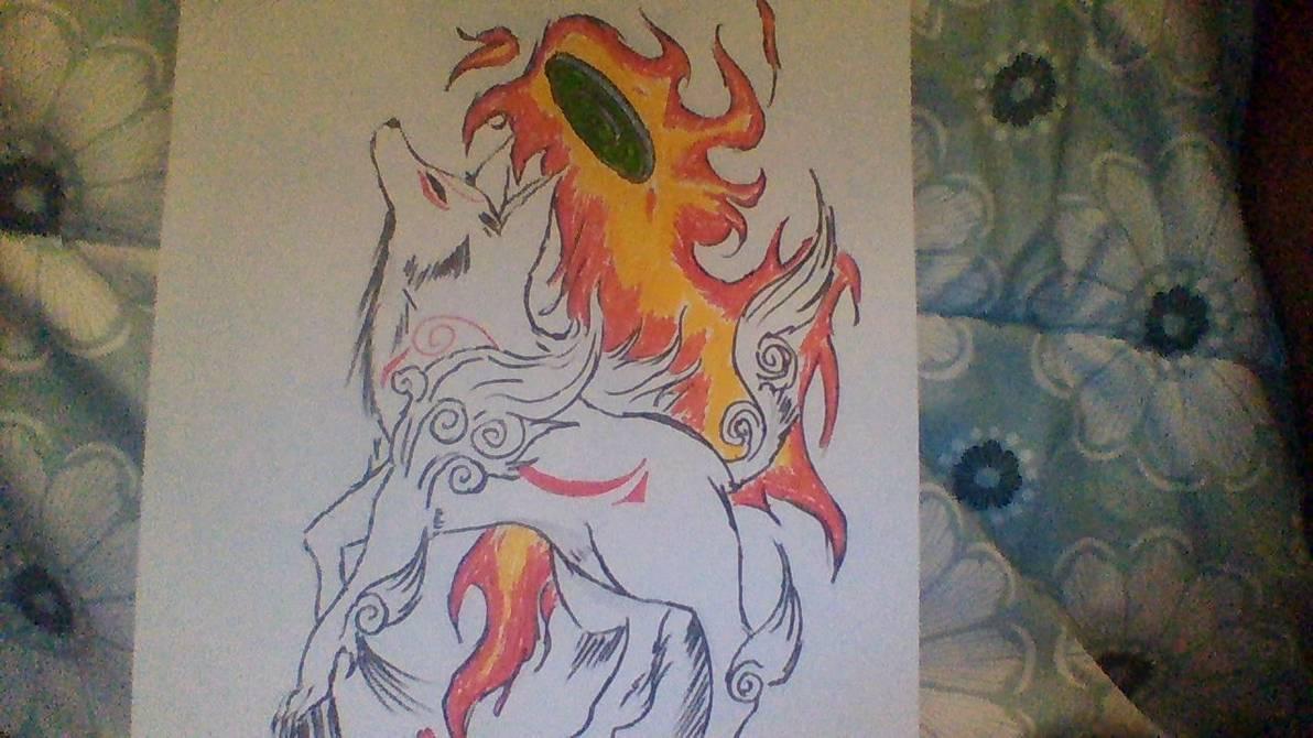jpg royalty free download Quick Draw of Okami Amaterasu by KunaCanine on DeviantArt