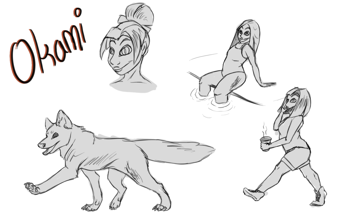 banner freeuse download Okami Sketches by Twizzler