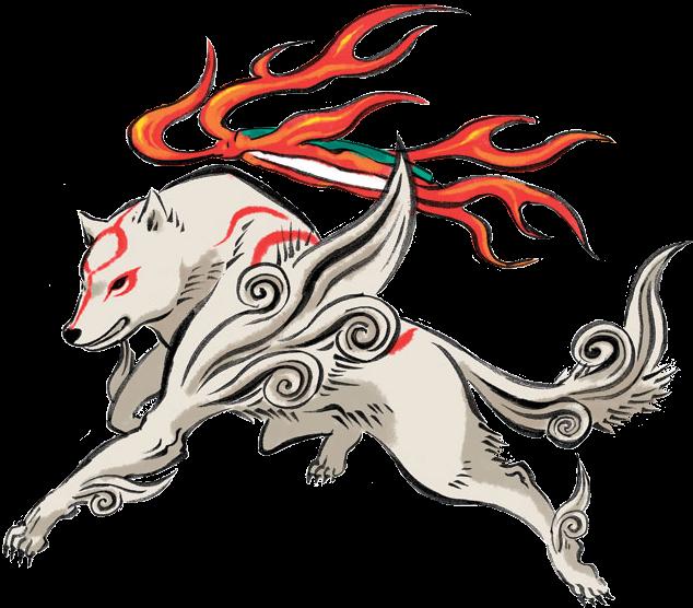 vector royalty free stock Okami Amaterasu Render