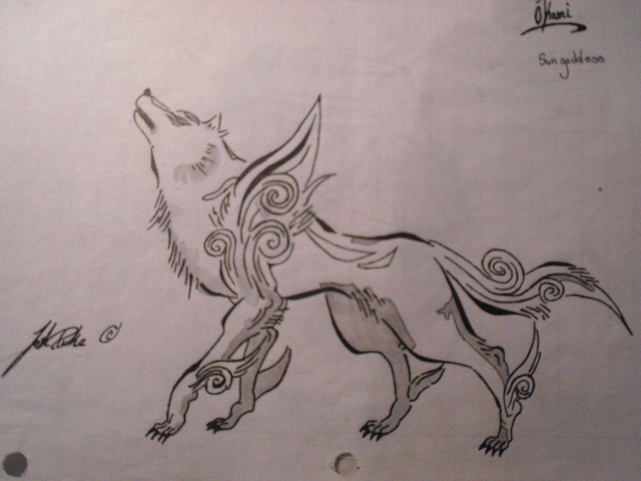 vector library library okami wolf