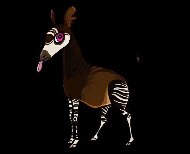 clip free stock Cartoon Okapi by Ithlini on DeviantArt