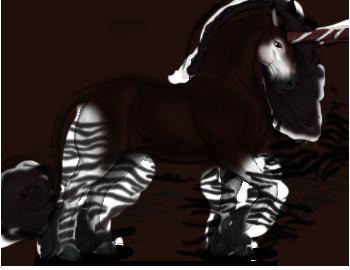 black and white stock Okapi Unicorn
