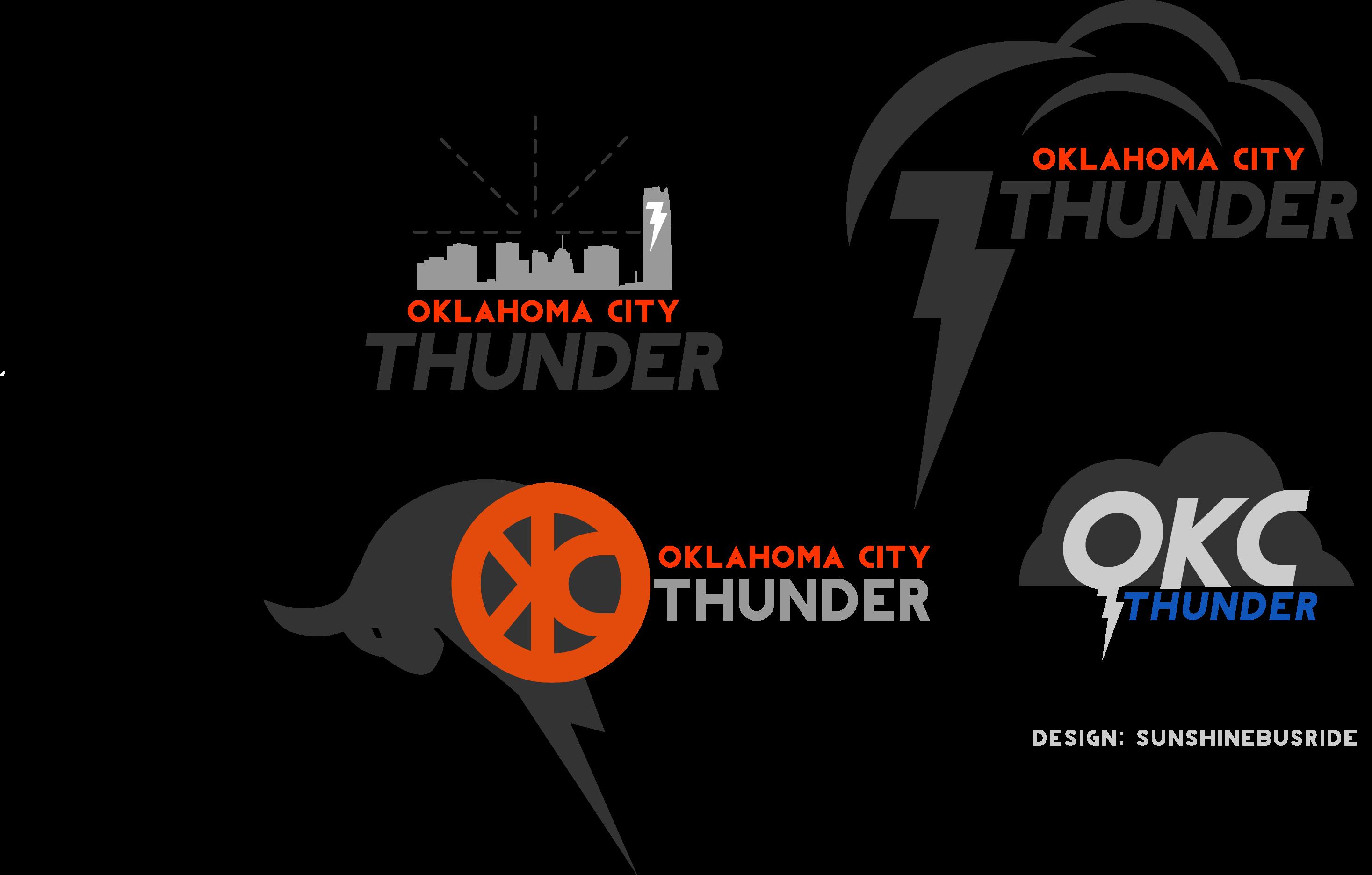 clip freeuse Some new logo ideas. Okc thunder clipart