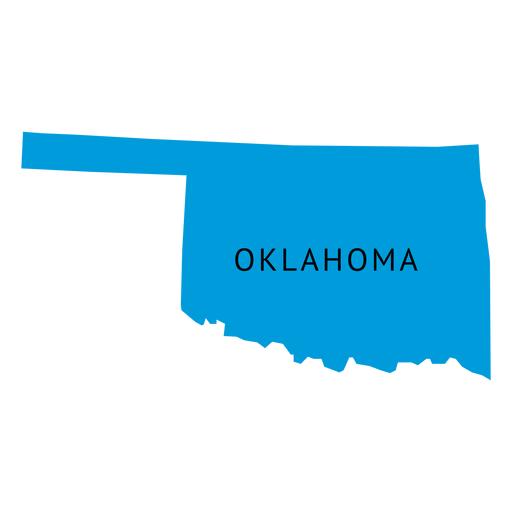 graphic transparent Oklahoma state plain map