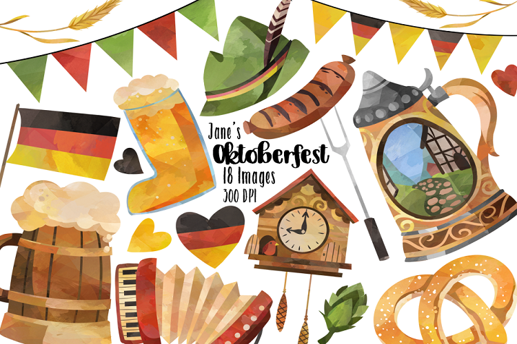 picture freeuse Oktoberfest clipart. Watercolor