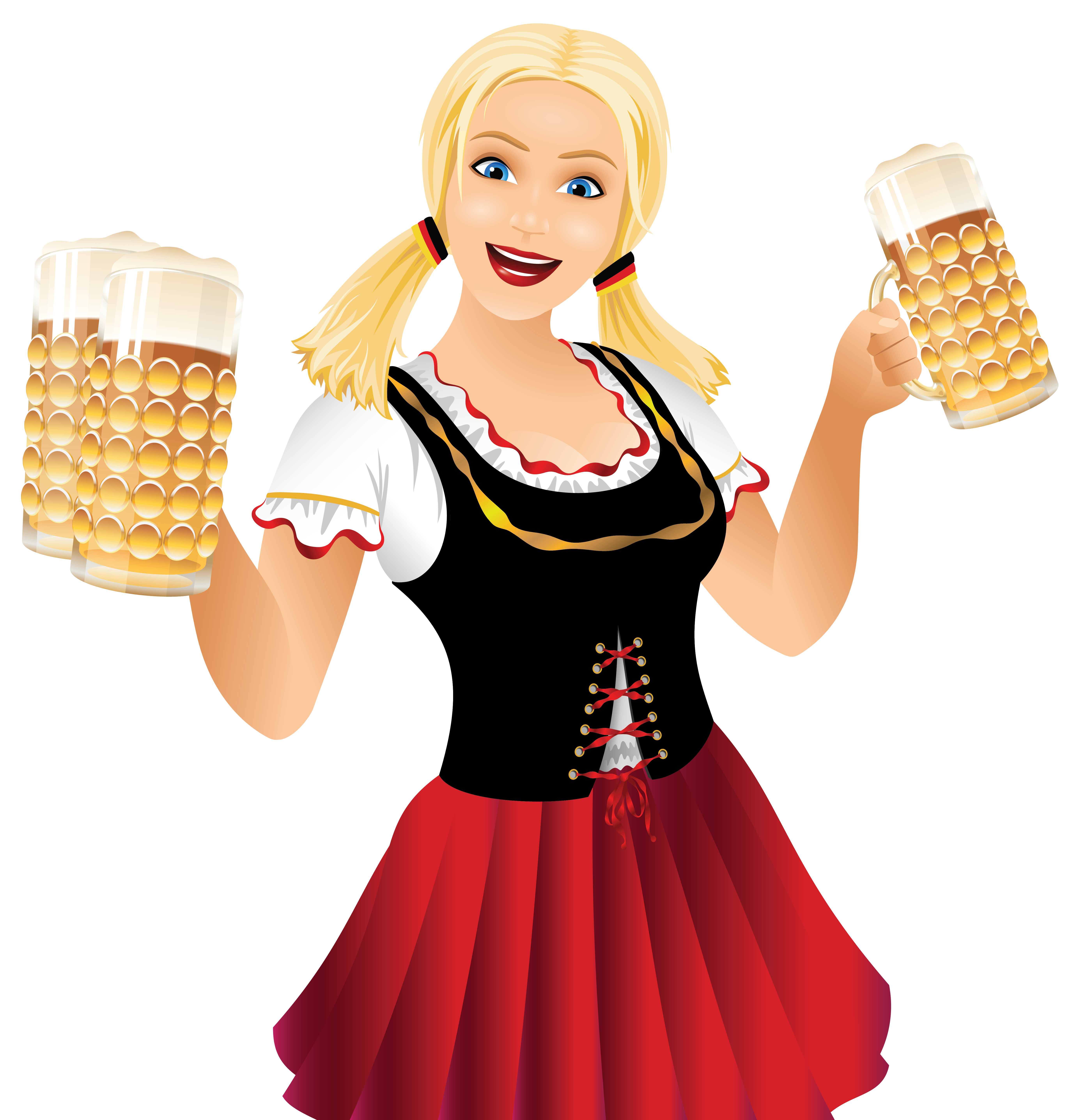 clip art royalty free download Act of kindness clipart. Oktoberfest girl with beer