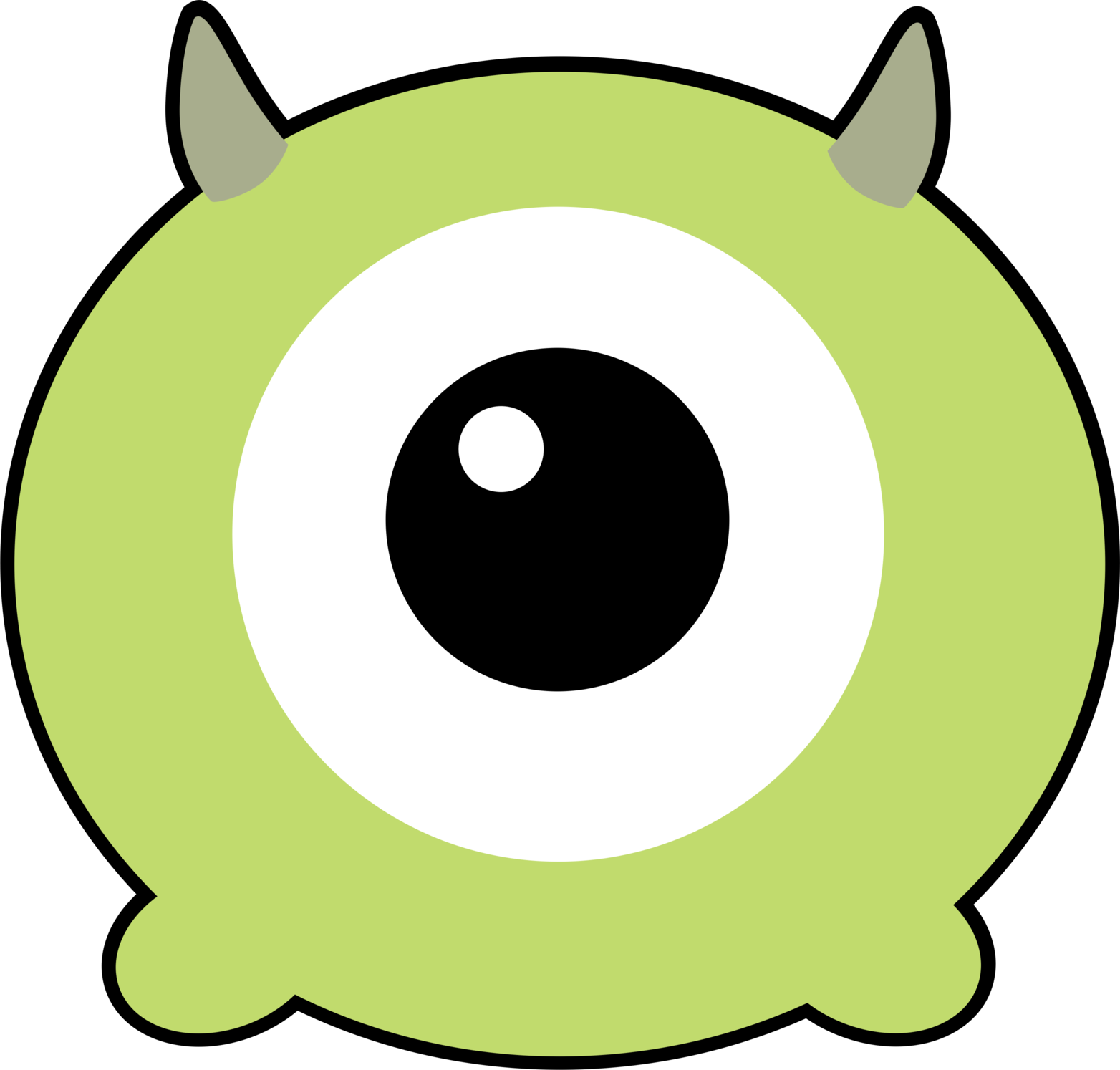 svg free library Olaf clipart eye. Transparent free for download