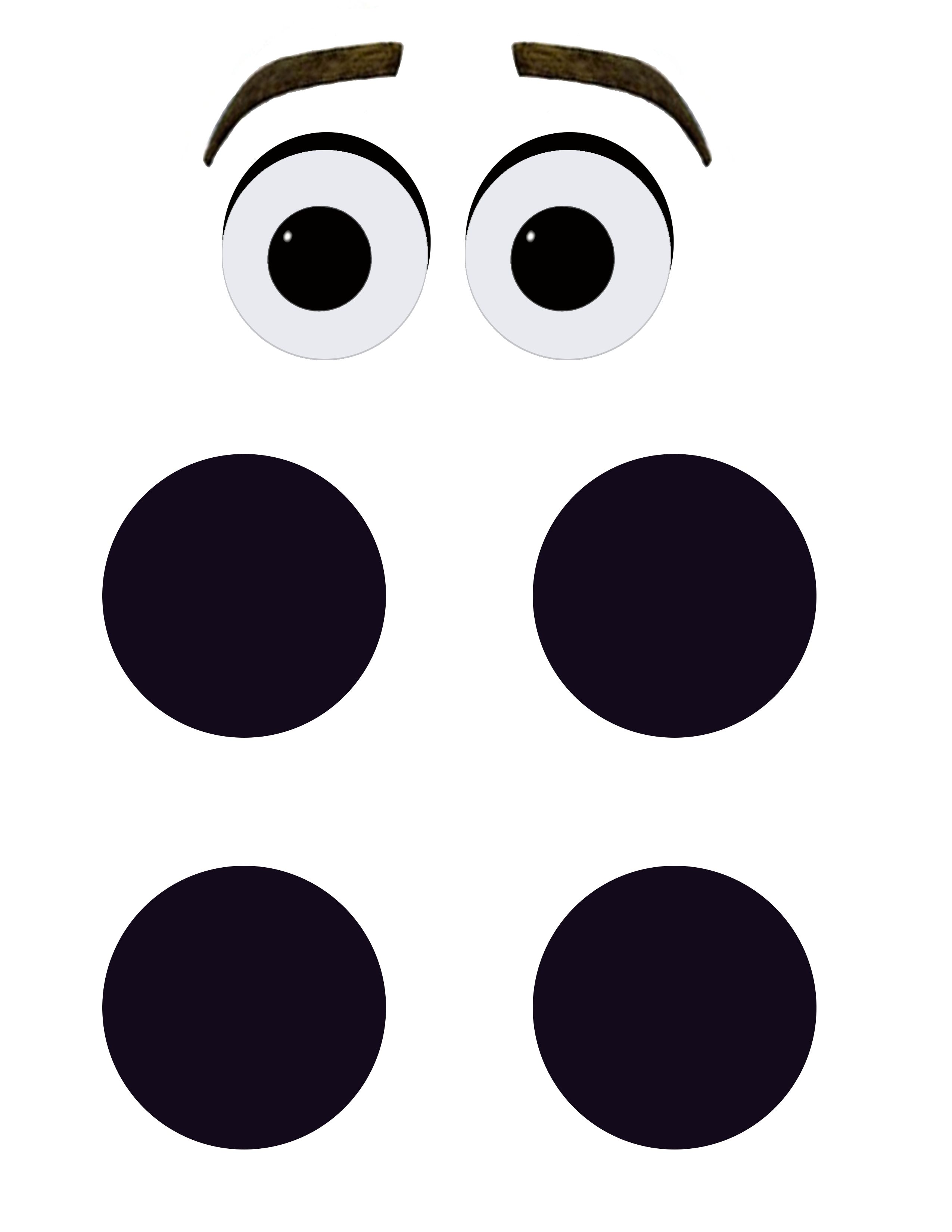 clip black and white Printable eyes and buttons. Olaf clipart eye