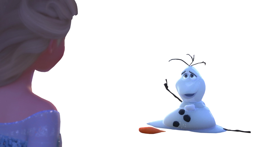 banner black and white Elsa and melting Olaf by Astrogirl