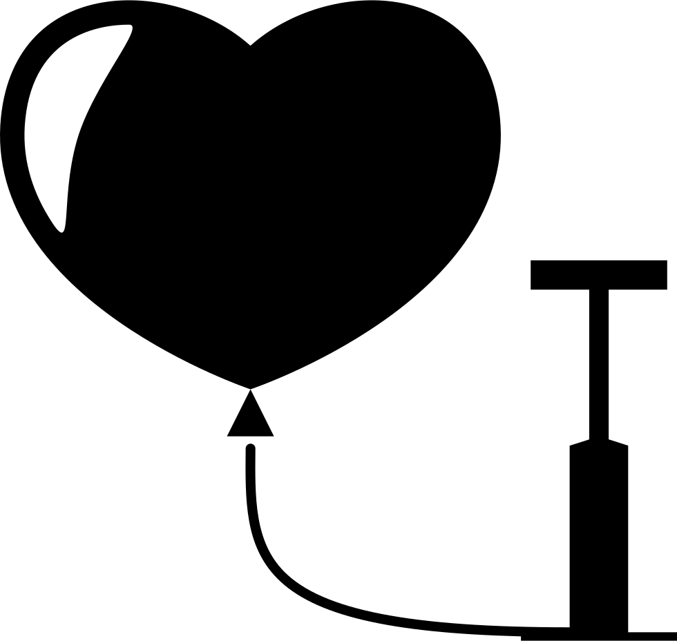 image library library Heart Balloon Pump Svg Png Icon Free Download