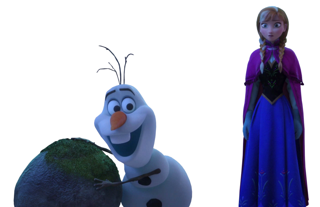 png stock Olaf and Anna
