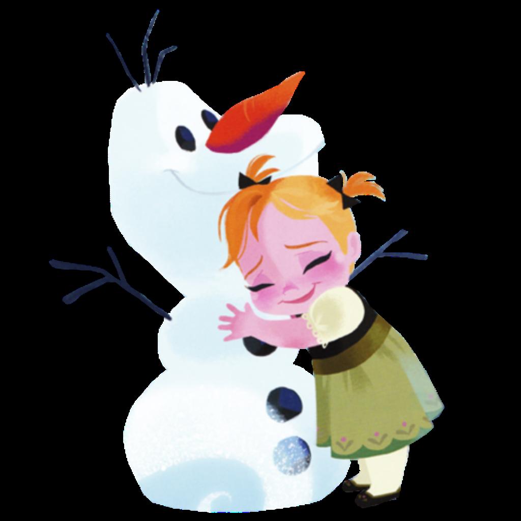 clip transparent library Anna annafrozen frozen olaf hug cute disney disneyfroze