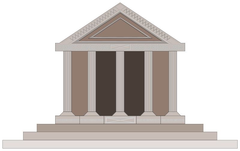 image transparent library Ancient Greek Building Clipart