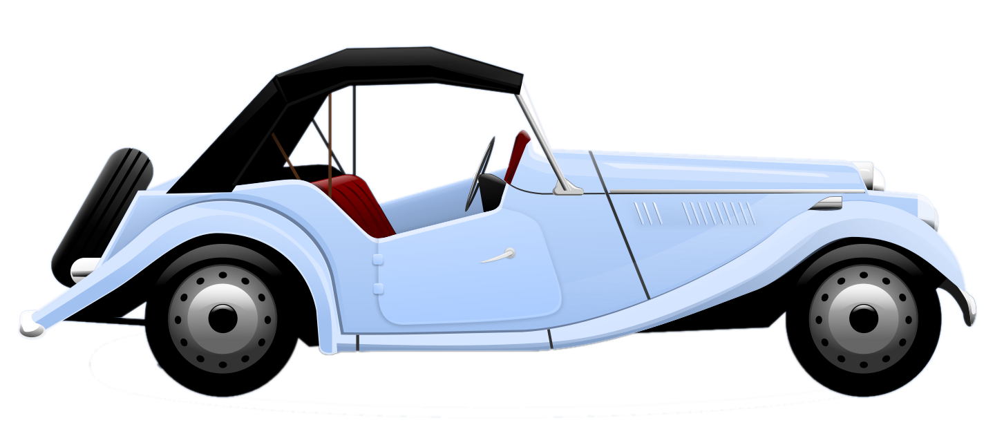 transparent library Free Classic Car Clipart