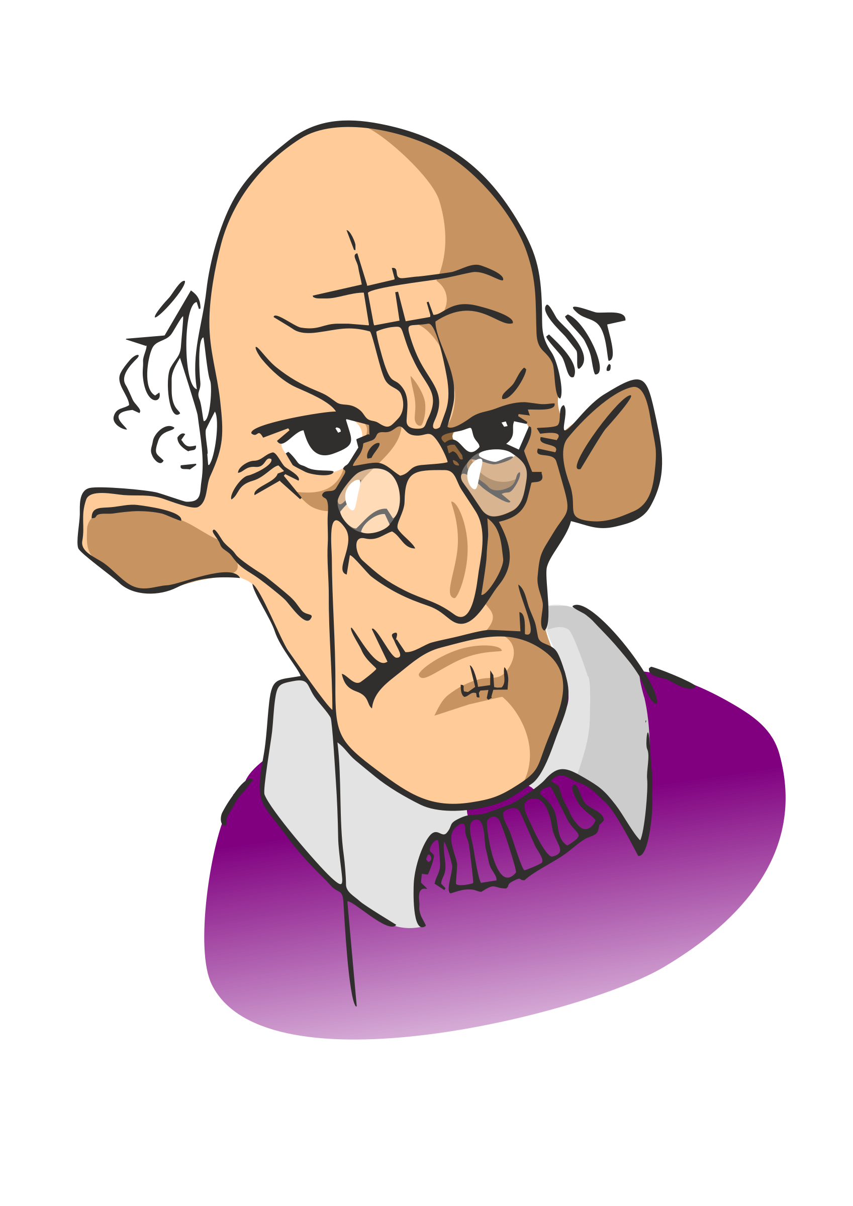 jpg library Old Person Clipart