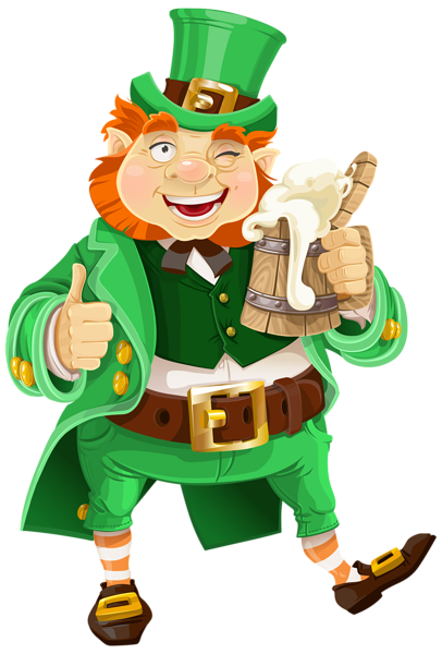 banner royalty free library St Patricks Day Leprechaun with Beer Transparent PNG Clip Art Image