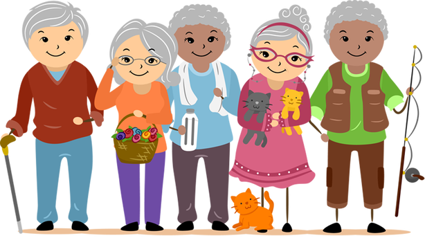 graphic transparent download Old clipart sweet person. Elderly clip art free.
