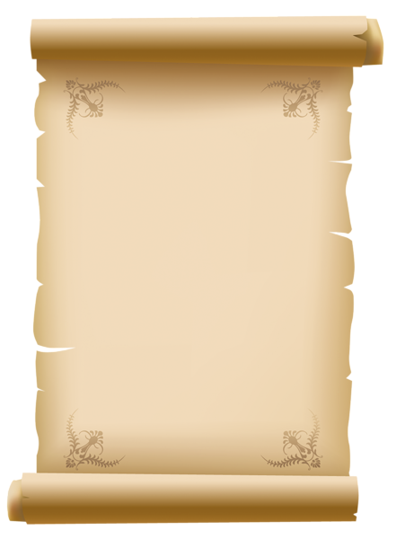 transparent library Scrolled Old Decorative Paper PNG Clipart Picture