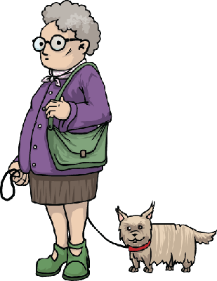 vector stock Old Lady