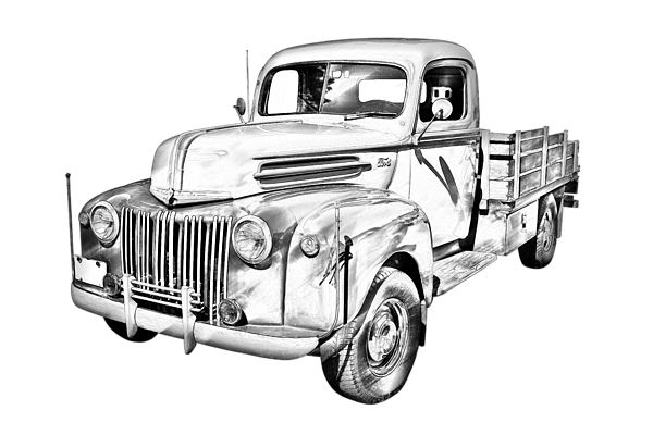 vector transparent Old Ford Truck Drawing at GetDrawings