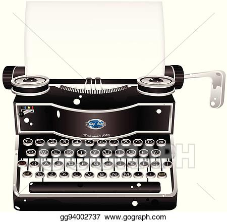 svg transparent Illustration eps clipart . Typewriter vector old fashioned