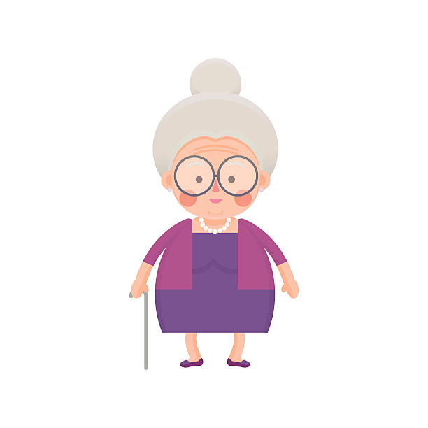jpg royalty free stock Old lady clipart. Station .