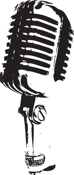 clipart royalty free library Old School Microphone Clipart