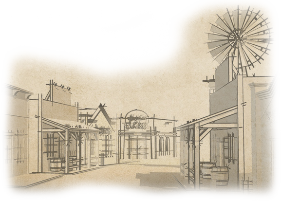 clip art freeuse stock Western Town Drawing at GetDrawings