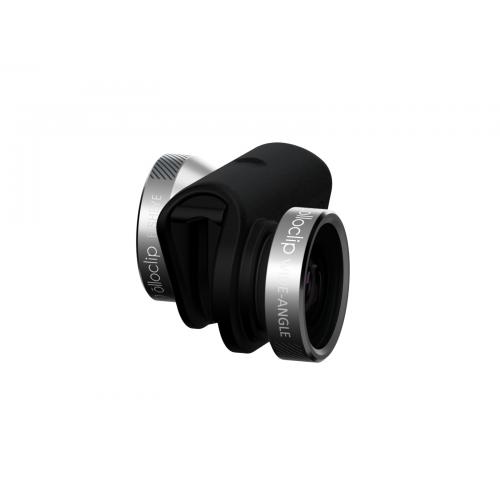 image stock Olloclip in photo lens. Olio clip