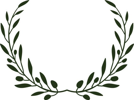 svg free library Pin on wedding . Olive branch wreath clipart