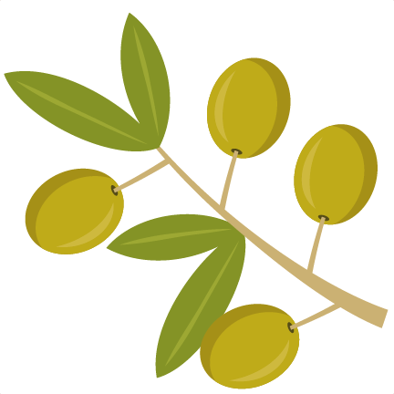 clip art freeuse download Olive branch wreath clipart. Svg cutting file cut