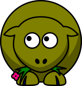 royalty free Sheep Olive Green Two Toned Looking Up To Left Clip Art at Clker