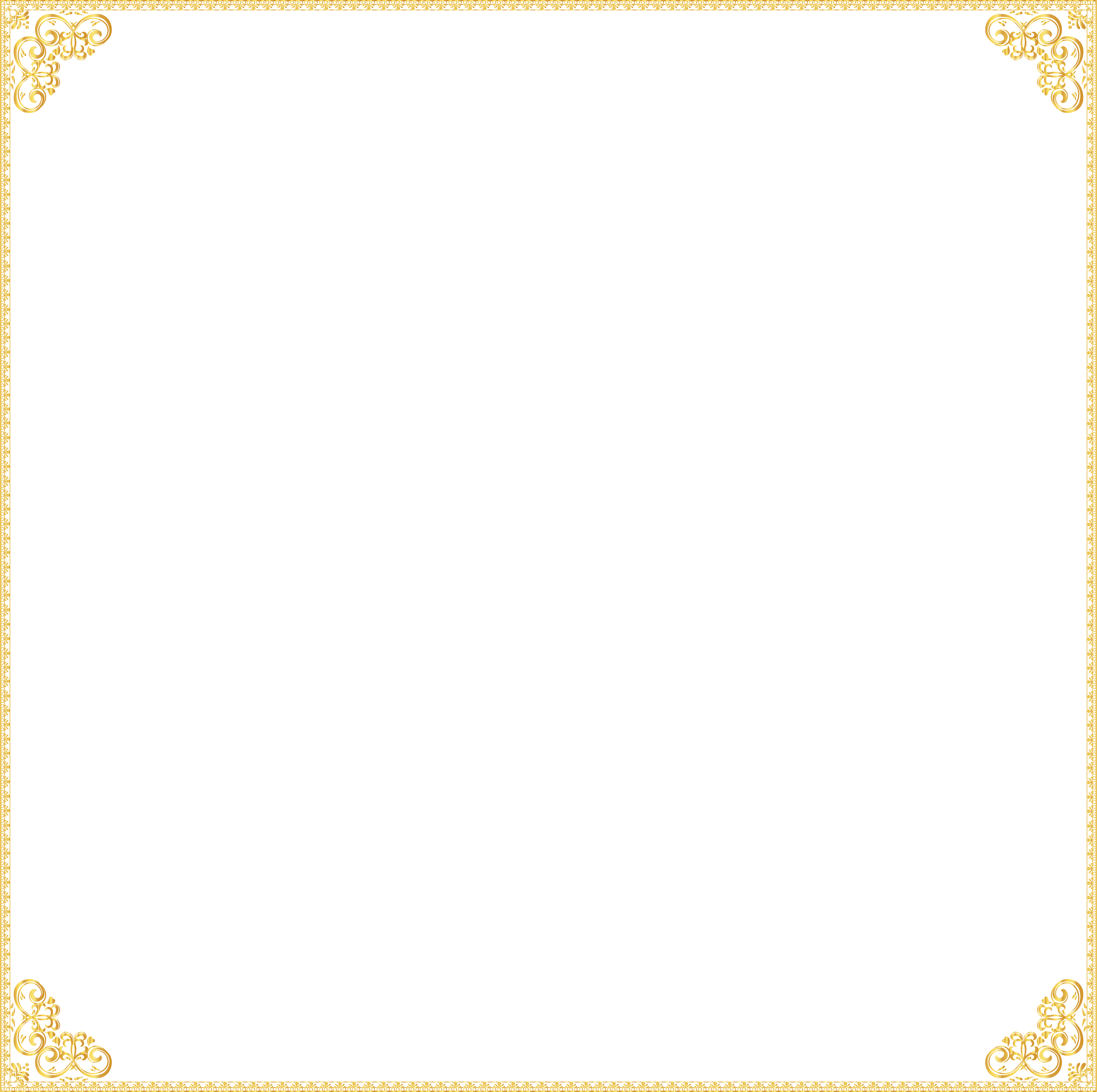 image transparent library Workout clipart border. Golden frame transparent clip