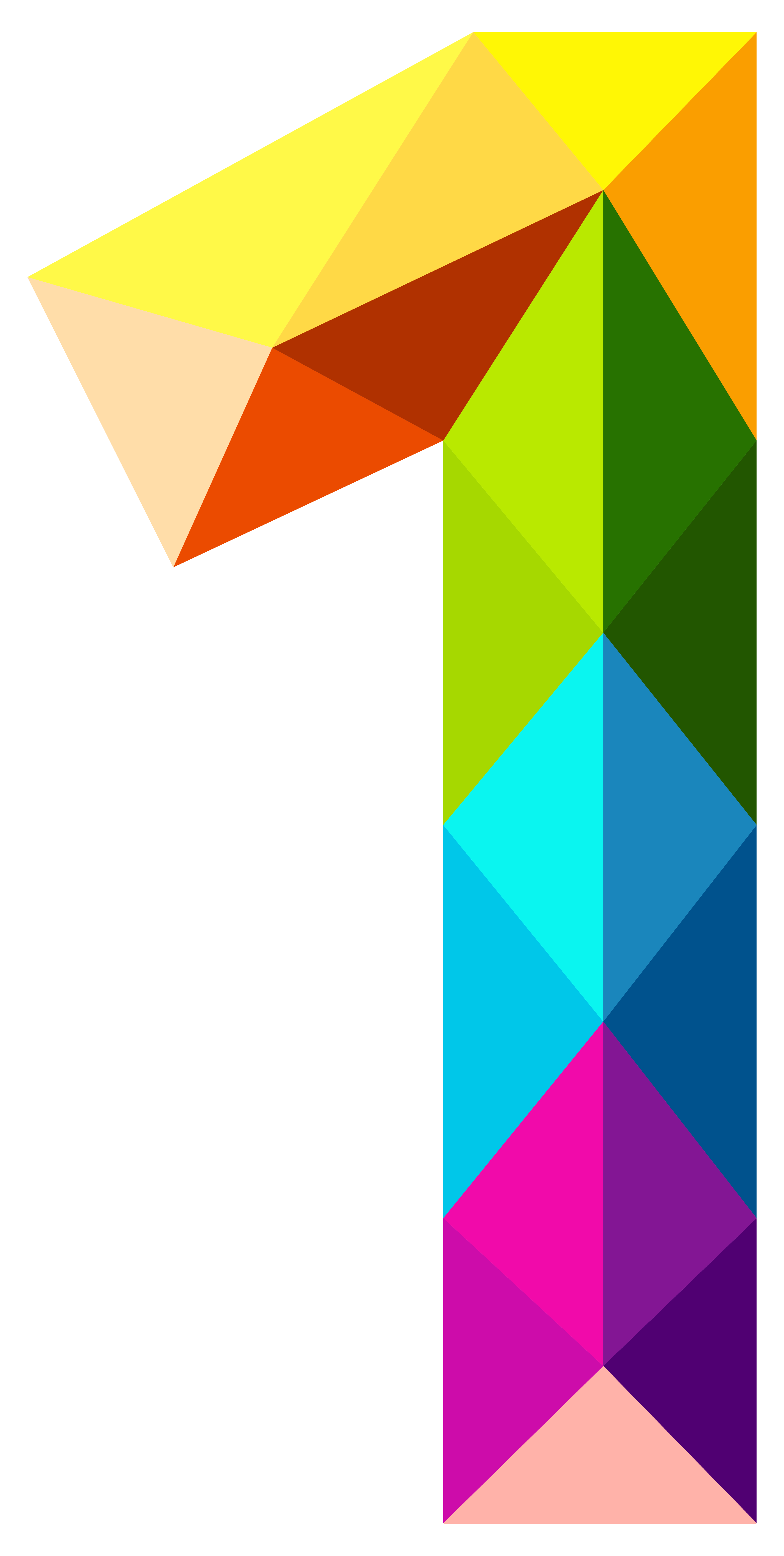 vector freeuse download Colourful triangles number png. One clipart