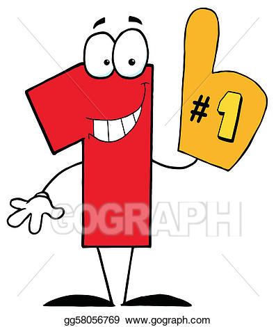 clip royalty free One clipart. Vector stock cartoon character.