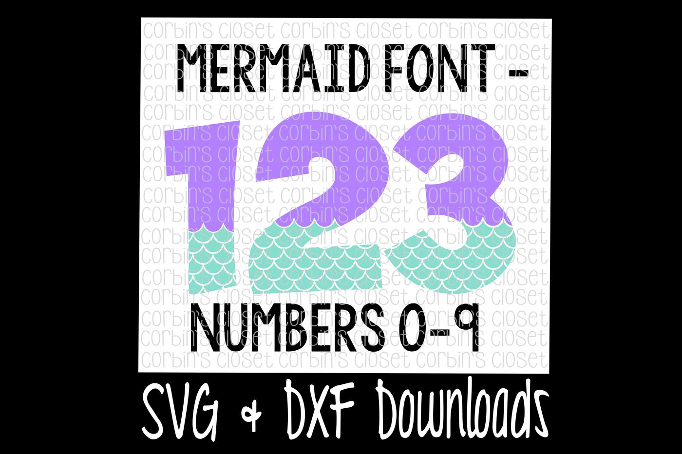 clip black and white Mermaid Numbers