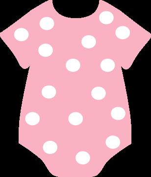 clip art stock Pink polka dot craft. Onesie clipart newborn girl