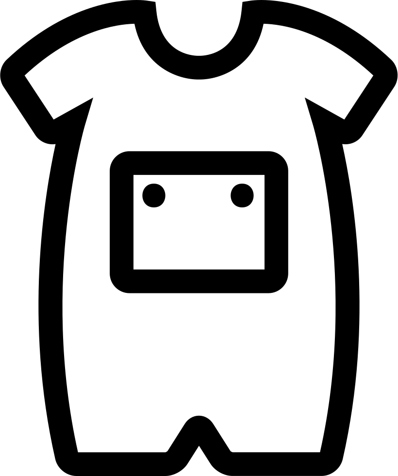picture freeuse stock Baby Onesie With Front Pocket Outline Svg Png Icon Free Download