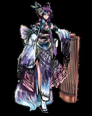 clipart black and white Kimono girl by shrimpHEBY on DeviantArt