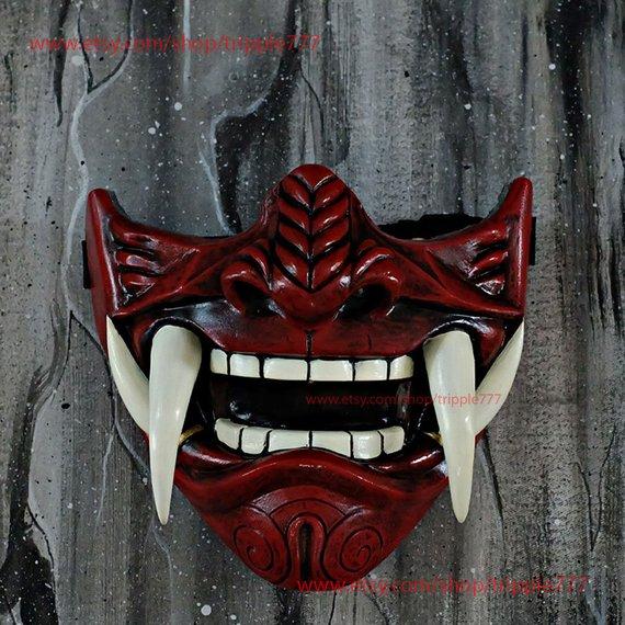 clip art transparent stock Half Face Assassin Ronin Samurai Mask