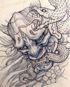 jpg oni drawing snake japanese #138388692