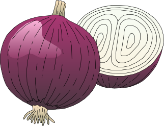 graphic black and white library Red Onion Clipart