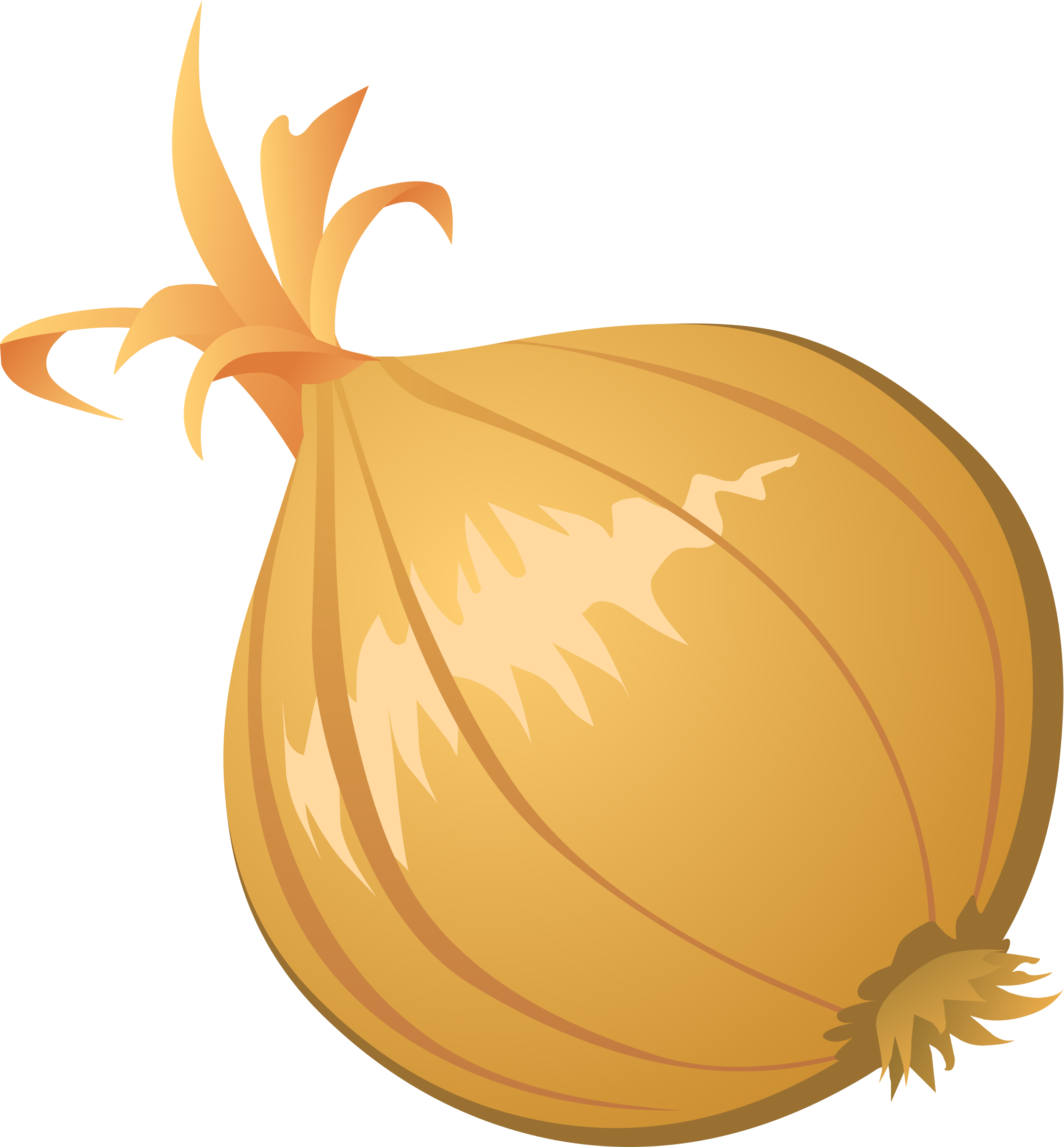 vector royalty free Onion Clipart Free