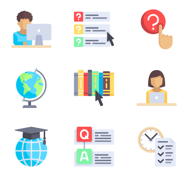 banner free download Online education Icons