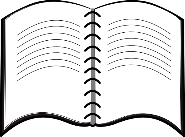 picture library library Open book clipart black and white. Symbol clip art at