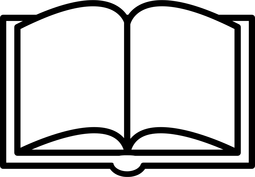 image transparent Books svg outline. Book opened from top
