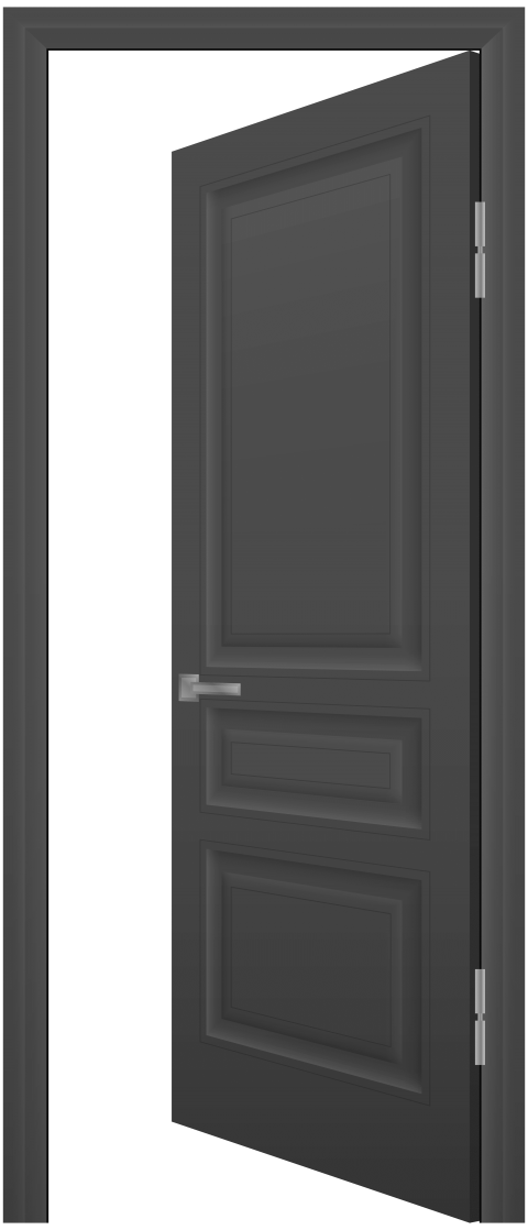 png freeuse library Open door clipart black and white. Grey png free images